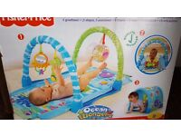 baby gym - washable Fisher Price Ocean Wonders Kick & Crawl Gym