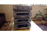 Technics Scdv290 HiFi/Home Cinema 5 discs cd/dvd Mini System in very good condition