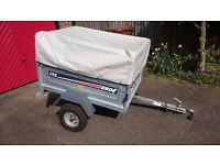 Erde 122 trailer with high frame extension