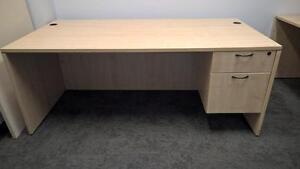 Used Wood Desk w/Run-Off - Great Shape!