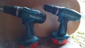 2 x makita drills