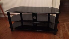 Black tempered glass TV stand great condition 105cmx45cm