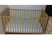 Cot bed & matress excellent condition