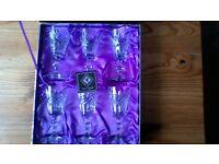 EDINBURGH CRYSTAL GLASSES, 6, boxed.