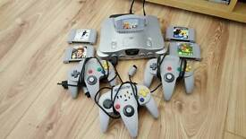 N64 with 5 games and 3 controllers