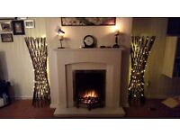 Marble Fireplace & Hearth - electric fire also avail.
