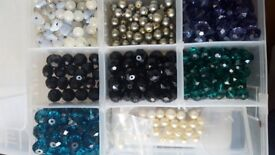 Glass beads/ jewellery making items