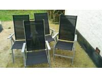 8 garden Chairs £10 each.