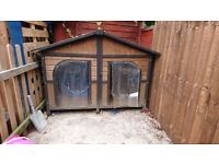 Double dog kennel 2 ft by 4 ft