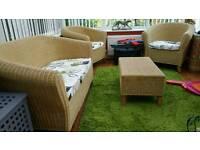 4 piece conservatory rattan set