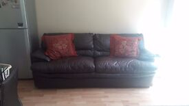 3 Seater Leather Sofa Bed - Need gone ASAP