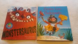 Pirates Love Underpants, Monstersaurus, & The Magic Book. £1 each or bundle £2.50