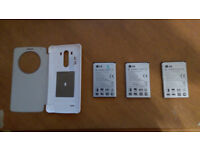 LG G3 Accessory bundle (Circle case & spare batteries)