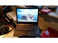 asus x58c windows 7 2g memory 150g hard drive wifi dvd drive comes with charger