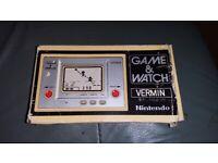 NINTENDO GAME AND WATCH VERMIN 1980 HANDHELD RETRO GAME