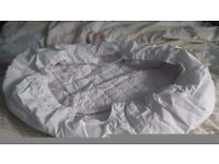 Mothercare moses basket quiltet liner