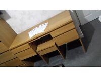 IKEA dressing table and stool - oak