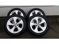 Bmw X1 e84 alloy wheels and runflat tyres
