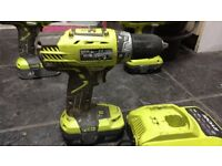Ryobi drill/drivers with or without battery and charger. Other ryobi tools available