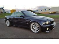 BMW M3 SMG CONVERTIBLE CARBON BLACK 100,000 MILES SAT NAV PRIVATE REG