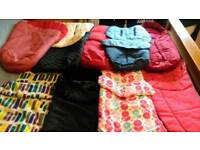Selection of pram, pushchairs footmuffs, cosy toes