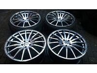 20 STAGGERED LENSO CONQUISTADOR 5 ALLOY WHEELS 5 X 112 GOLF VW AUDI A4 A6 MERCEDES VITO ETC