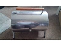 Small Chrome folding BBQ great for camping or Caravaning