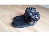 Foldable boots with 2 Styles (wear Short/Long) with Warm Lined Fleece UK5 EU38 in great cond