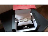 Beautiful Diamond Face ladies TISSOT ceramic watch, only worn once!