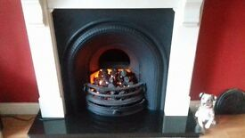 *insert* Cast Iron Fireplace with Marble surround