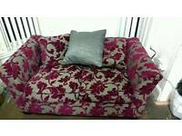 Grey/purple 2 seat sofa