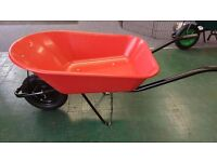 RED PLASTIC 85L WHEELBARROW
