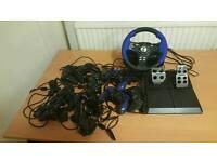 Playstation 2 steering wheel job lot