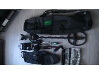 Garrett AT PRO metal detector+ pointer+headphones+spade and 2 trowels +carrying bags . £550 ono.