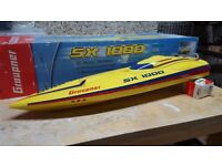 Graupner sx 1000 rc model speed boat