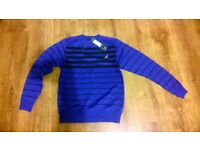 d rock striped crew sweatshirt dr-st14 royal black