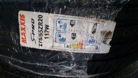 5X BRAND NEW MAXXIS S PRO 275/55ZR20 117W TYRES