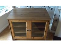 Lovely country style wooden cabinet with glass doors
