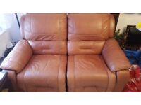 Ex Marks & Spencer leather recliner sofa