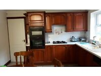 Kitchen units including fitted oven and gas hob