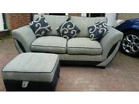 Stunning DFS Sofa bed with footstool. Was £1300 now only £240. * Free Delivery *