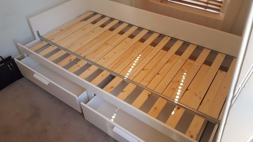Ikea Brimnes Day Bed W 2 Drawers Single Converts To Double