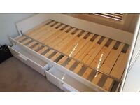 Ikea BRIMNES Day-bed w 2 drawers (single converts to double bed)