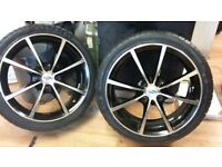 "set of mint 17"" (4x100) tsw alloys &brand new tyres (fit ford/vaux/honda etc) LOADS MORE AV 7-DAYS"