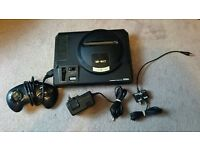 Sega Megadrive Complete with Two Official Control Pads and 7 Games Plus all Leads
