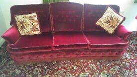 Bridgecraft vale sofa and chairs circa 1970