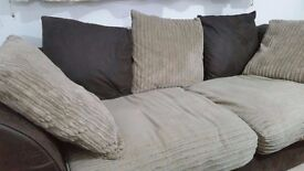 Gabrielle Jumbo Cord Large Sofa , nicely maintained in a professional family for sale