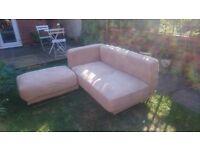 Ikea Tylosand sofa and footstool