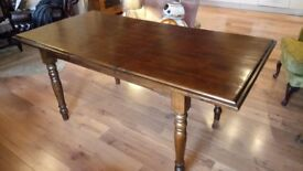 Designer reclaimed wood extending dining table (originally £400)