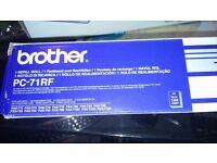 Genuine brother PC - 71RF Thermal printing cartridge.